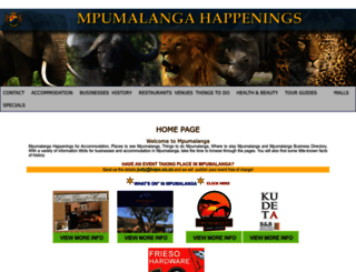 mpumalangahappenings.co.za screenshot