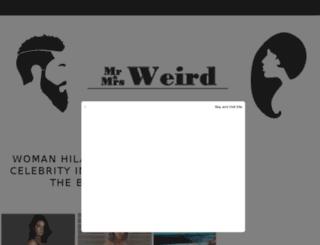 mrandmrsweird.com screenshot