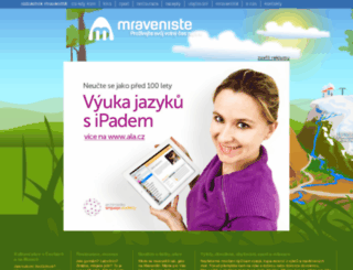 mraveniste.cz screenshot