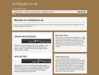 mreliquid.co.uk screenshot
