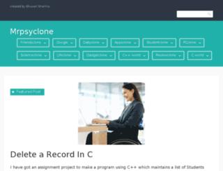 mrpsyclone.wordpress.com screenshot