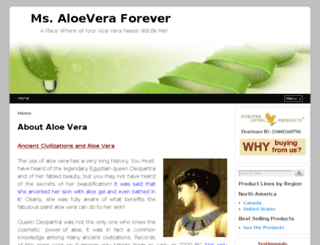 ms-aloevera-forever.com screenshot
