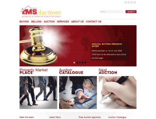 msauctions.co.uk screenshot
