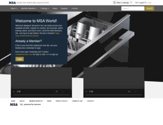 msaworld.com screenshot