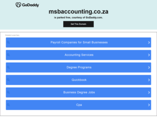 msbaccounting.co.za screenshot
