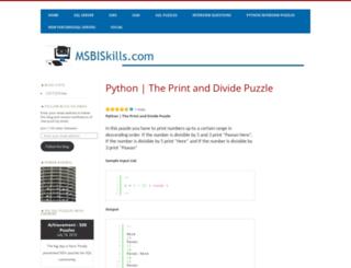 msbiskills.com screenshot