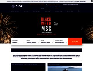 msccruceros.com.ar screenshot