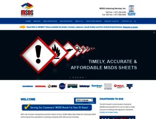 msdsauthoring.com screenshot