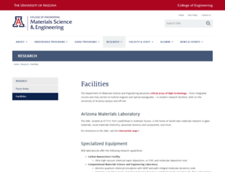 mse.arizona.edu screenshot