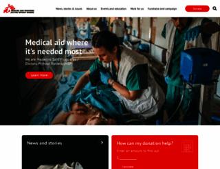 msf.org.uk screenshot