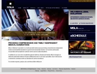 mslaca.com screenshot