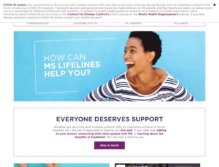 mslifelines.com screenshot