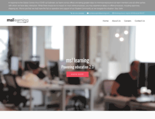 msllearning.com screenshot