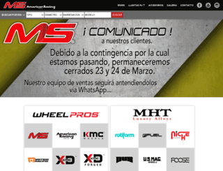 msmotorsports.mx screenshot