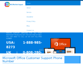 msofficetechsupport.com screenshot