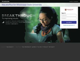 msstate.mylabsplus.com screenshot