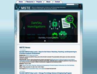 mste.illinois.edu screenshot