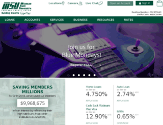 msufcu.com screenshot