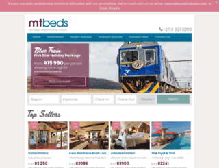 mtbeds.co.za screenshot