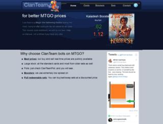 mtgoclanteam.com screenshot