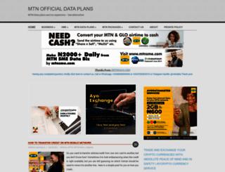 mtndata.com.ng screenshot