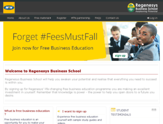 mtneducation.regenesys.net screenshot