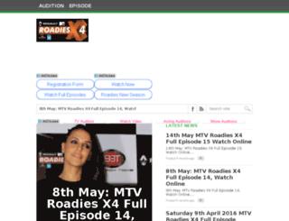 mtvroadiesx4.co.in screenshot