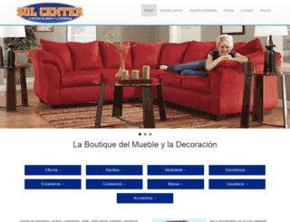 mueblessolcenter.com screenshot