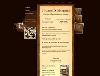 muenzen-matthies.com screenshot