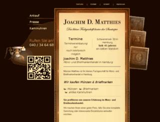 muenzen-matthies.de screenshot