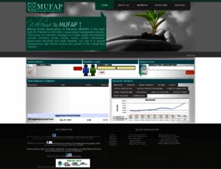 mufap.com.pk screenshot