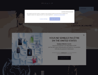 mugler.fr screenshot