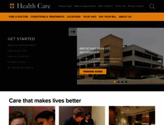 muhealth.org screenshot