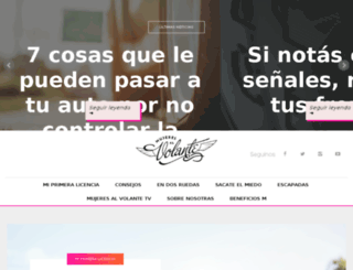 mujeresalvolante.com.ar screenshot