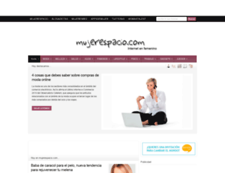 mujerespacio.com screenshot