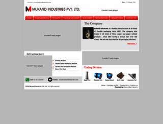 mukandindustries.com screenshot