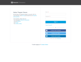 mulesoft.influitive.com screenshot