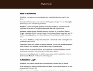 multiminerapp.com screenshot
