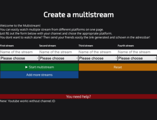 multistreaming.net screenshot