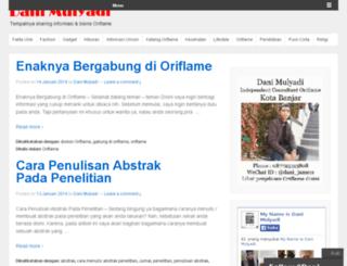 mulyadidani.wordpress.com screenshot