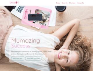 mumazingsuccess.com screenshot