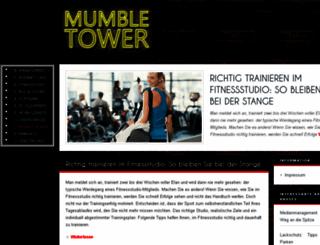 mumble-tower.de screenshot