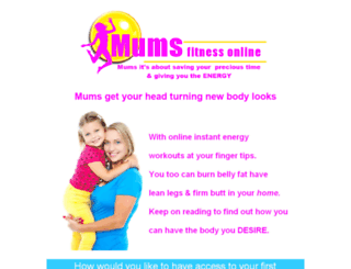 mumsfitnessonline.com screenshot