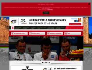 mundialciclismoponferrada.com screenshot