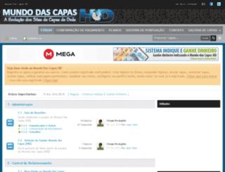 mundodascapashd.com.br screenshot