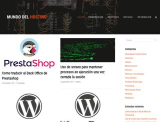 mundodelhosting.com screenshot