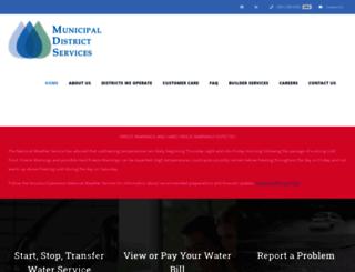 municipaldistrictservices.com screenshot