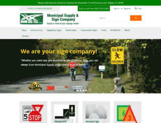 municipalsigns.com screenshot