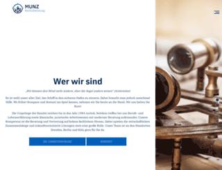 munz-anwaelte.de screenshot
