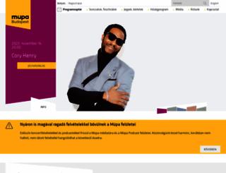 mupa.hu screenshot